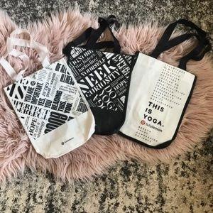 New Lululemon reusable shopping bags